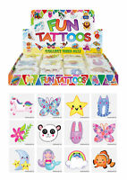 72 Cute Temporary Tattoos - Pinata Toy Loot/Party Bag Fillers Wedding/Kids