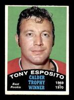 1970-71 O-Pee-Chee #247 Tony Esposito Calder Trophy EX+ X1358996