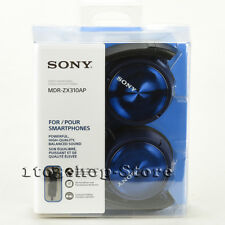 Sony ZX Series MDR-ZX310AP Foldable Headband Stereo Headset w/Mic (Blu