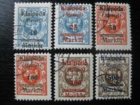 MEMEL KLAIPEDA Mi. #129-134 scarce used stamp set! CV $120.00