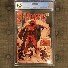Avengers #57 CGC 6.5 Marvel Comics 1968 1st app Silver Age Vision