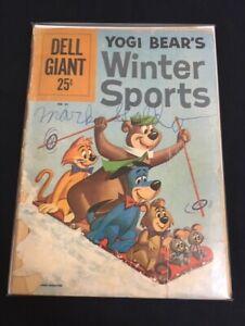 Yogi Bear's Winter Sports #1 Dell Giant #41 Good- GD- (1.8) Dell Publishing 1961