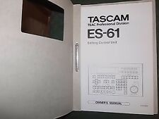 OWNER'S MANUAL    TASCAM ES-61