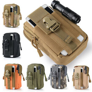Men Outdoor Waterproof Military Tactical Waist Pack Fanny Phone Pouch Belt Bag