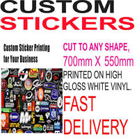 Custom Print Vinyl Your Design Decals Labels Logo Stickers Printing Bulk Sticker
