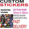 Custom Print Vinyl Your Design Decals Labels Logo Stickers Printing Bulk Sticker