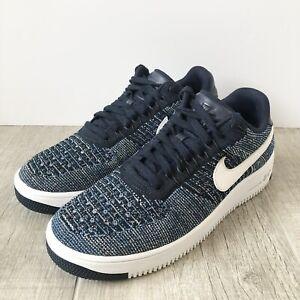 """Nike Air Force 1 Ultra Flyknit Low Sneakers """"Obsidian"""" Blue Men's Size 8.5"""