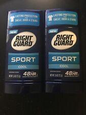 (Lot Of 2) Right Guard Sport Cool Deodorant, 48hr, 2.6oz