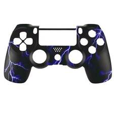 """Custom PS4 V2 Controller """"Blue Lightning"""" Front Shell (Matte Finish)"""