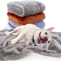 Fleece Dog Blanket Soft and Warm Pet Throw Mat Cushion Bed for Dogs & Cats Gray