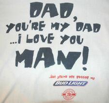 Vtg BUD LIGHT T Shirt 90's Budweiser Beer FUNNY SLOGAN Rare USA MADE Logo