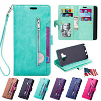For Samsung Galaxy S8+ S9 Note 9 Flip Leather Phone Case Cover Card Wallet Stand
