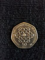 VERY RARE AND COLLECTABLE GIRL GUIDES 50P COIN GOOD CONDITION