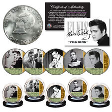 ELVIS PRESLEY Early Hits 1950s OFFICIAL 1976 Bicentennial IKE Dollar 5-Coin Set