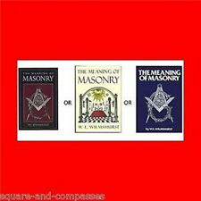 MASONIC FREE MASON BOOK:THE MEANING OF MASONRY,FREEMASON,FREEMASONRY-TRUTH,LEARN
