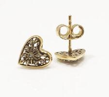 Genuine Pandora Hearts of Winter Stud Earrings 14K Gold Plated 296368CZ