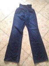 Sz 33 AG Adriano Goldschmied A Pea in Pod  Maternity Jeans Dark Blue Boot Cut