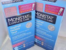 Monistat Complete Care Vaginal Health Test, 2 Test Swabs w/t itch Cream (2pks)