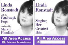 Linda Ronstadt Authentic Original All Access Back Stage Pass 1996