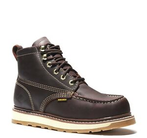 "Men's Work Boots 6"" Moc Toe Leather  BONANZA 612 Size 5-13"