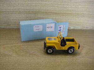 MATCHBOX SUPERFAST (69-83) MB38C  JEEP  Yellow Gliding Club BB