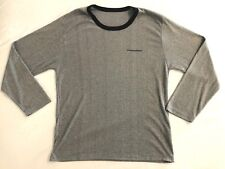 American Airlines Men's Black Stripe Long Sleeve Tee Shirt Size L/XL