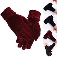 Women Warm Velvet Gloves Mittens Solid Winter Fashion Outdoor Cycling Travel New