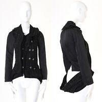runway JUNYA WATANABE SS2006 black deconstructed layered tweed jacket LBJ S