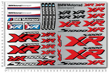 S1000XR motorcycle motorrad decal set sheet 32 Laminated stickers bmw s1000 XR