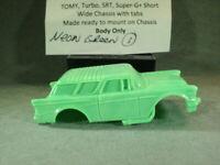 HO Slot Car Resin Body 1957 Chevy Nomad NEGR1 AFX/TOMY Mega-G+ 1.5 Chassis +MORE