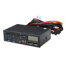 "5.25"" USB 3.0 e-SATA All-in-1 PC Media Dashboard Multi-function Front Panel Z2I9"