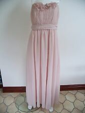 BNWT-H&M-LIGHT PINK LONG EVENING GOWN/MAXI/CRUISE/PROM DRESS WITH/OUT STRAPS-16