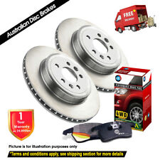 For TOYOTA Landcruiser Prado 90 series 312mm REAR Disc Rotors (2) & 4X4 Pads (1)