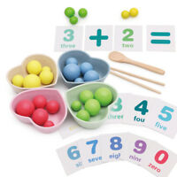 Montessori Toys Kids Kitchen Creative Toy Bowls and Chopsticks Practice Kit