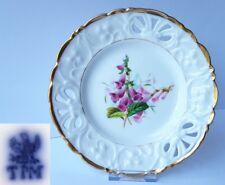Porzellan Teller, Blumen, Handmalerei, C. Tielsch & Co Schlesien, um 1848 AL476