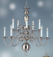 WILLIAMSBURG chandelier 10 lights Brushed Nickel 8144BN