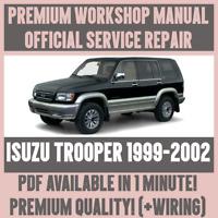 WORKSHOP MANUAL SERVICE & REPAIR GUIDE for ISUZU TROOPER 1999-2002 +WIRING