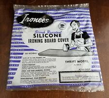 """Ironees Silicone Coated Ironing Board Cover Resists Scorching Fits up to 54"""""""
