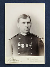 2nd Lt. of 8th Mass. Vol. Militia Co. 'M' Wearing 4 Medals & Badges - Cab. Photo