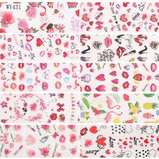 10 Pcs Hearts Rose Night Nail Art Foil Sticker Transfer Film Manicure Diy
