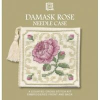 Damask Rose Needle Case Counted Cross Stitch Kit by Textle Heritage DRNC