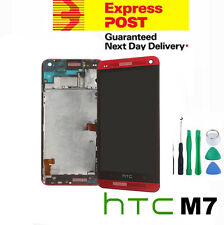 GENUINE Red HTC One M7 LCD Digitizer Screen Replacement Assembly with Frame