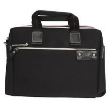 """Leather Briefcase Pro Business 14.1"""" Notebook Laptop Shoulder Bag Handbag Black"""