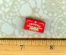 Dollhouse MINIATURE Size  ENGLISH BREAKFAST Tea Box