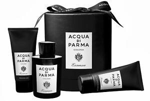 ACQUA DI PARMA COLONIA ESSENZA 3.4 oz ED COLOGNE SHOWER GEL A/S BALM GIFT SET