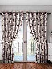 Brown & Beige Set of 2 Long Door Curtains Freeshipping