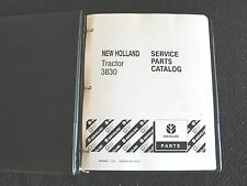 FORD NEW HOLLAND 3830 TRACTOR PARTS CATALOG MANUAL W/BINDER SUPER CLEAN