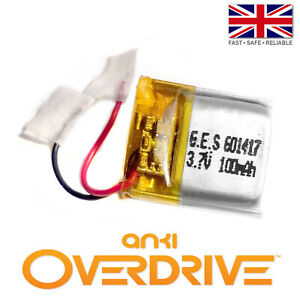 Anki Overdrive Car / Supertruck Battery - UPGRADE - 3.7V 100mAh LiPo 1S Polymer