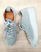 Twelvesons Suede Trainers Light Blue Sz 10 (44) Lace Up Fashion