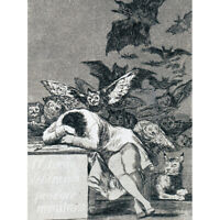 De Goya The Dream Of Reason Brings Forth Monsters Canvas Art Print Poster